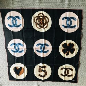 """AUTHENTIC CHANEL SCARF, 34""""x34"""""""